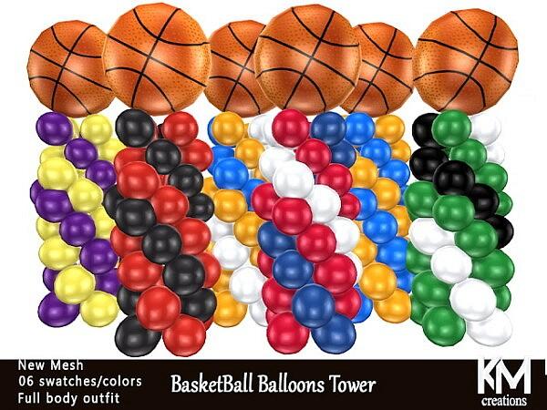 Basketball Balloons Tower sims 4 cc