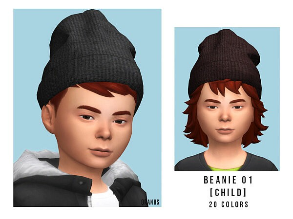 Beanie 01 Child sims 4 cc