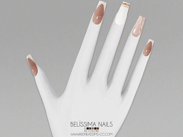 Belisimma Nails from Red Head Sims