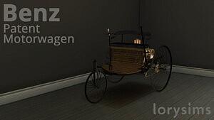Benz Patent Motorwagen sims 4 cc