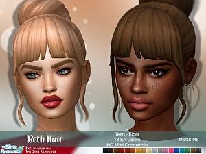 Beth Hair sims 4 cc