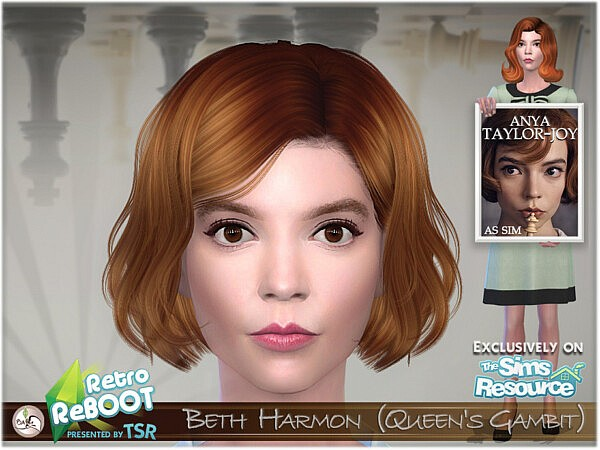 Beth Harmon sims 4 cc