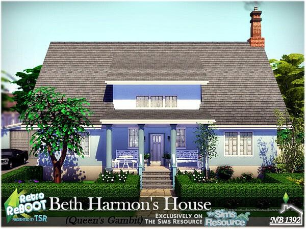 Beth Harmons House sims 4 cc