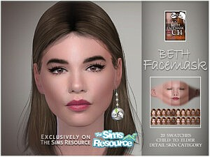 Beth facemask sims 4 cc