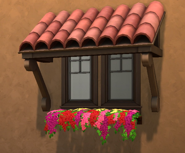 Better Tiled Awning Mesh by Qahne from Mod The Sims