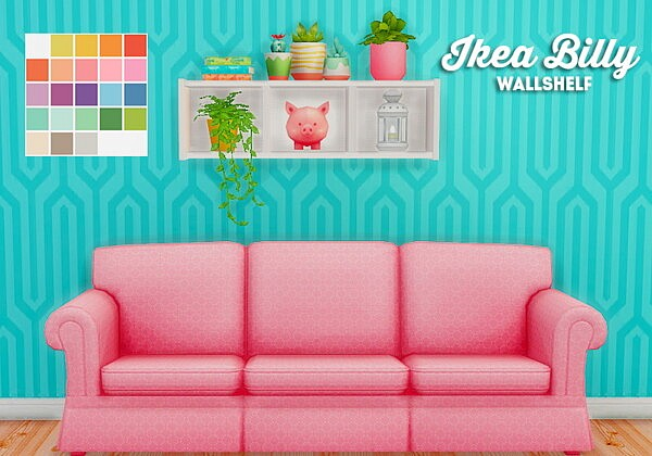 Billy wallshelf sims 4 cc