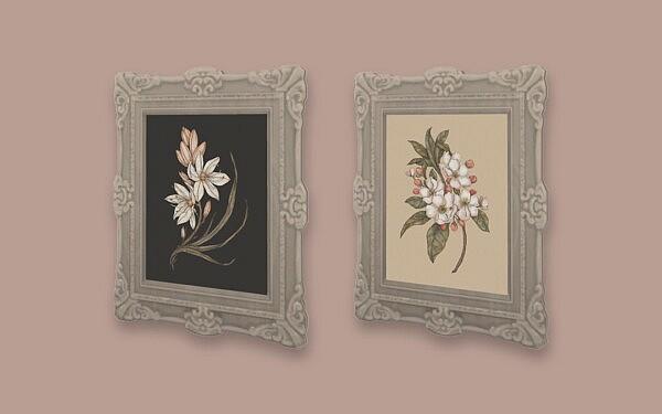 Botanical Paintings sims 4 cc