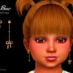 Bow Toddler Earrings sims 4 cc