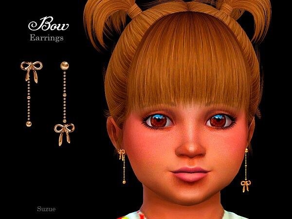 Bow Toddler Earrings by Suzue from TSR