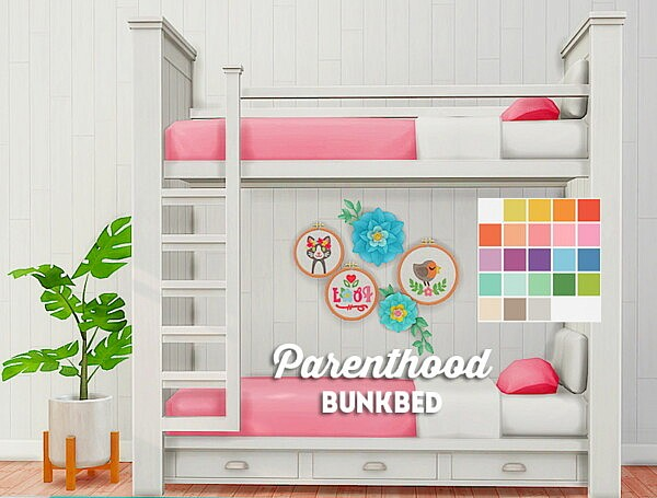 Brohill Parenthood bunkbed sims 4 cc