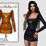 Butterfly Dress sims 4 cc