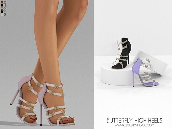 Butterfly high heels sims 4 cc