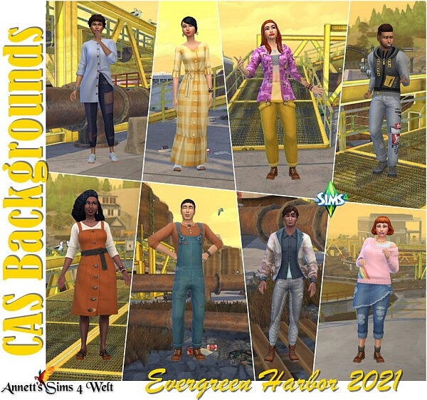 CAS Backgrounds Evergreen Harbor 2021 sims 4 cc