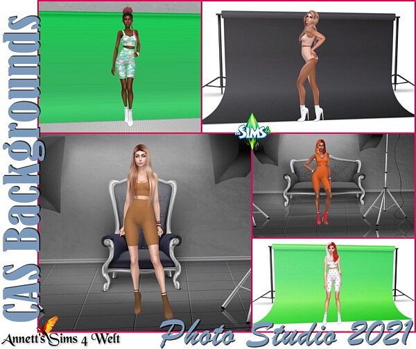 CAS Backgrounds Photo Studio 2021 sims 4 cc