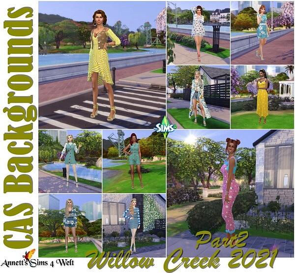 CAS Backgrounds Willow Creek 2021 Part 2 sims 4 cc