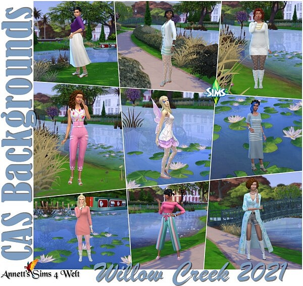 CAS Backgrounds Willow Creek 2021 sims 4 cc
