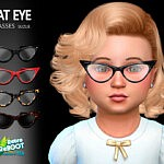 CatEye Toddler Glasses sims 4 cc