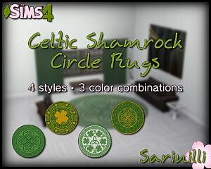 Celtic Shamrock Circle Rugs sims 4 cc
