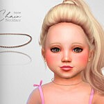 Chain Toddler Necklace sims 4 cc