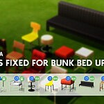 Chairs and Stools for Bunk Bed sims 4 cc