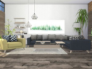 Chandler Living Room sims 4 cc