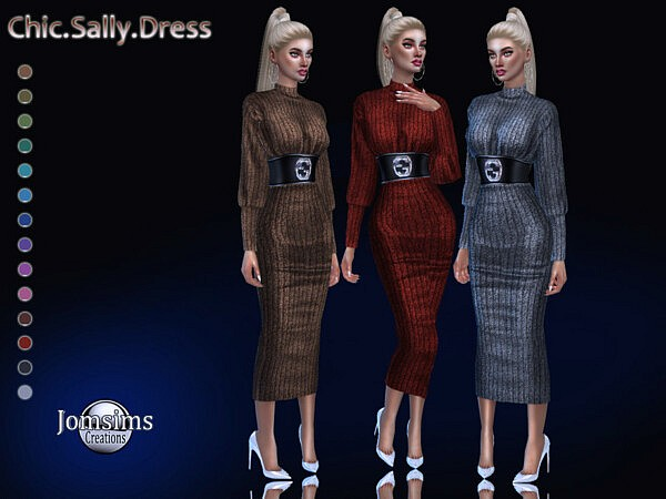 Chic sally dress sims 4 cc