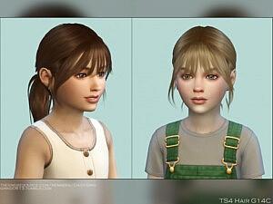 Child Hair G14C sims 4 cc