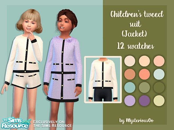 Childrens tweed suit Jacket by MysteriousOo from TSR