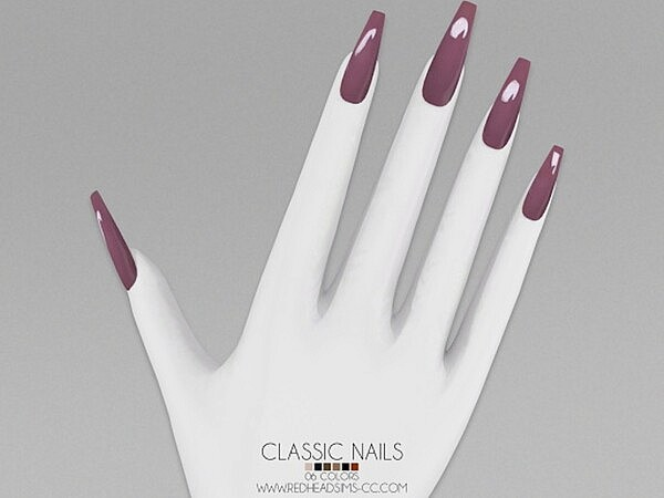 Classic Nails sims 4 cc