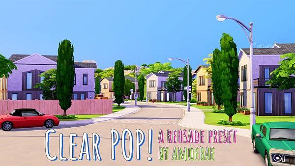 Clear POP sims 4 cc