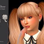 Clover Child Earrings sims 4 cc