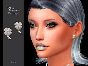 Clover Earrings sims 4 cc