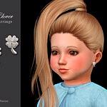 Clover Toddler Earrings sims 4 cc