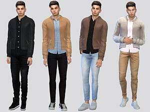 Clyde Leather Jacket sims 4 cc