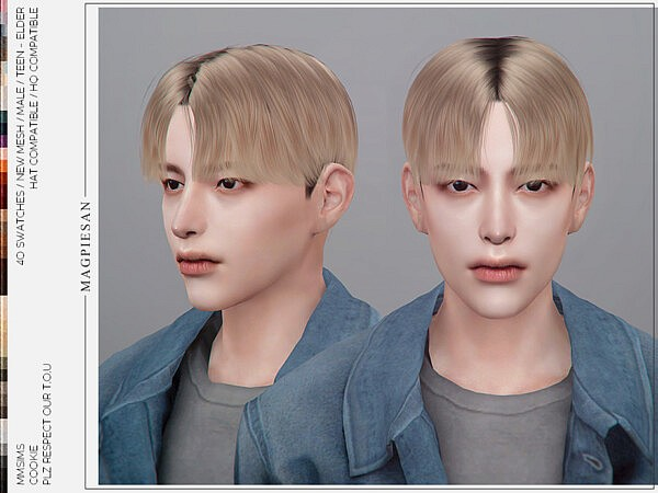 Cookie V1 Hair by magpiesan from TSR