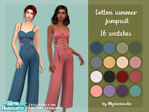 Cotton summer jumpsuit sims 4 cc