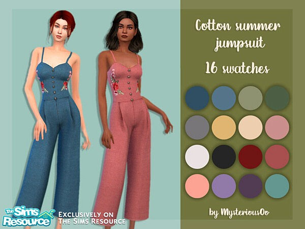 Cotton summer jumpsuit by MysteriousOo from TSR