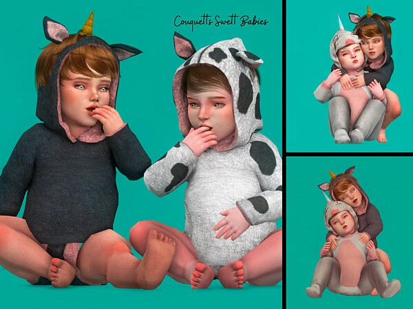Couquetts Sweet Babies poses sims 4 cc