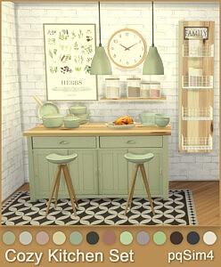 Cozy Kitchen Set sims 4 cc