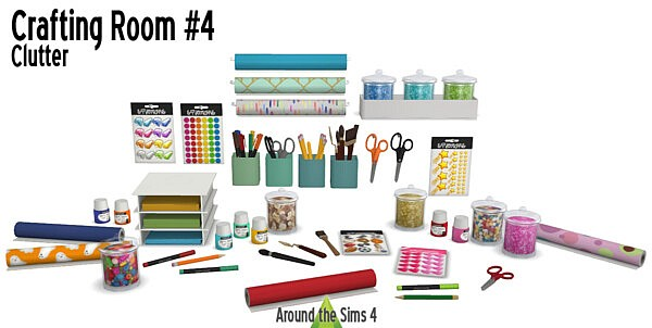 Crafting Room Clutter sims 4 cc