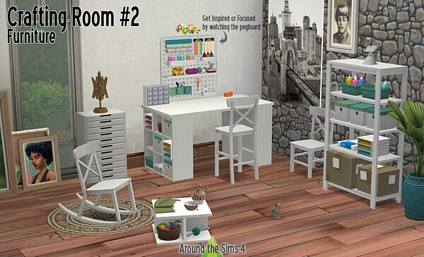 Crafting Room Furniture from Around The Sims 4
