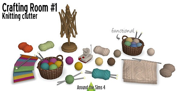 Crafting Room Knitting sims 4 cc