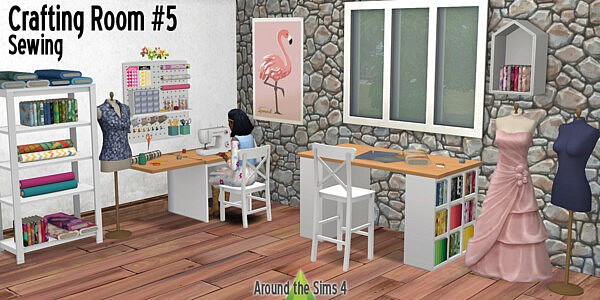 Crafting Room Sewing from Around The Sims 4