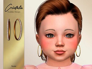 Cristalia Toddler Hoops Earrings sims 4 cc