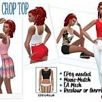 Crop Top sims 4 cc