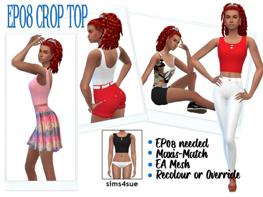 Crop Top from Sims 4 Sue