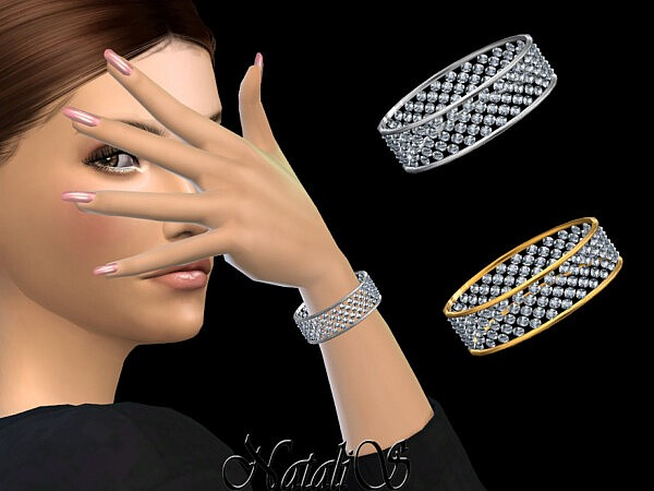Crystal wide band bracelet sims 4 cc