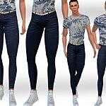 Dark Blue Jeans sims 4 cc1