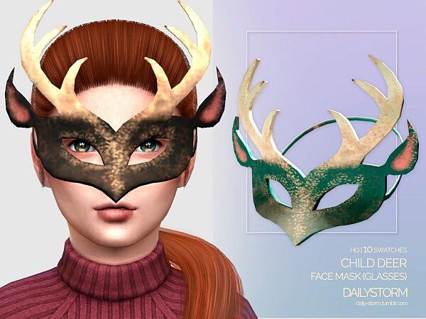 Deer Mask Child sims 4 cc