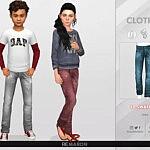 Denim Pants for Child 01 sims 4 cc